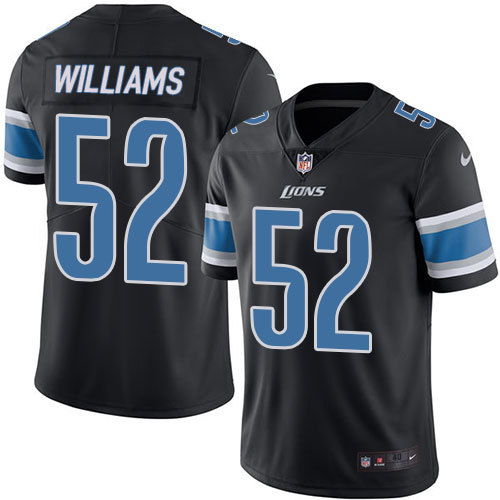 2016 Nike Detroit Lions 52 Antwione Williams Black Mens Stitched NFL Limited Rush Jersey