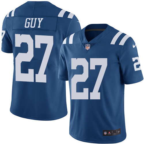 2016 Nike Indianapolis Colts 27 Winston Guy Royal Blue Mens Stitched NFL Limited Rush Jersey