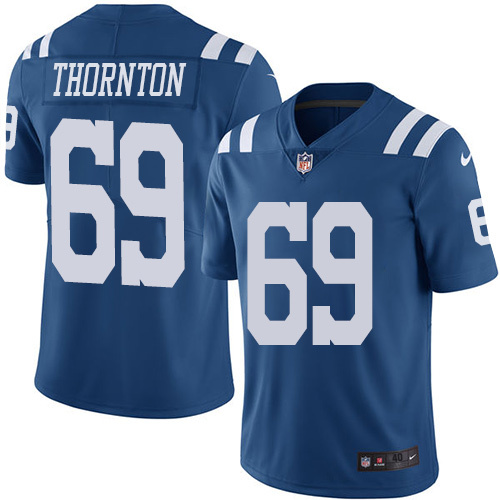 2016 Nike Indianapolis Colts 69 Hugh Thornton Royal Blue Mens Stitched NFL Limited Rush Jersey