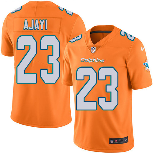 2016 Nike Miami Dolphins 23 Jay Ajayi Orange Mens Stitched NFL Limited Rush Jersey
