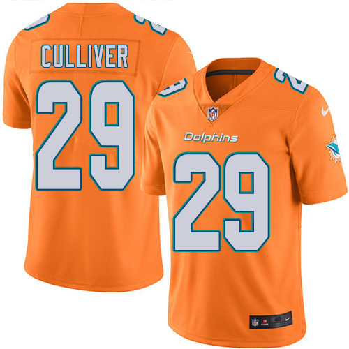 2016 Nike Miami Dolphins 29 Chris Culliver Orange Mens Stitched NFL Limited Rush Jersey