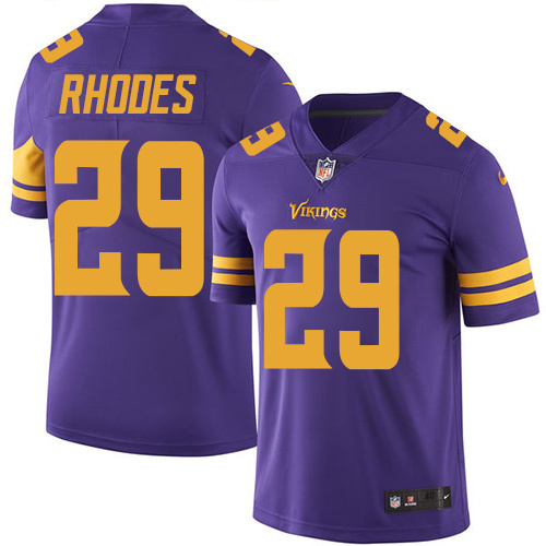2016 Nike Minnesota Vikings 29 Xavier Rhodes Purple Mens Stitched NFL Limited Rush Jersey