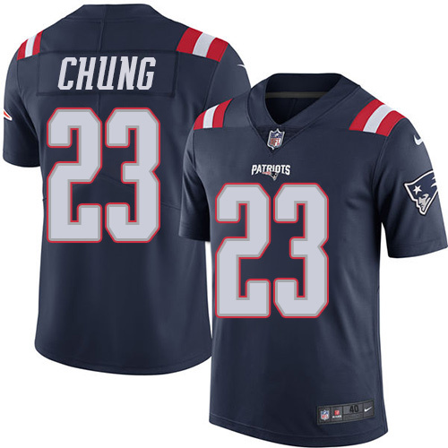 2016 Nike New England Patriots 23 Patrick Chung Navy Blue Mens Stitched NFL Limited Rush Jersey