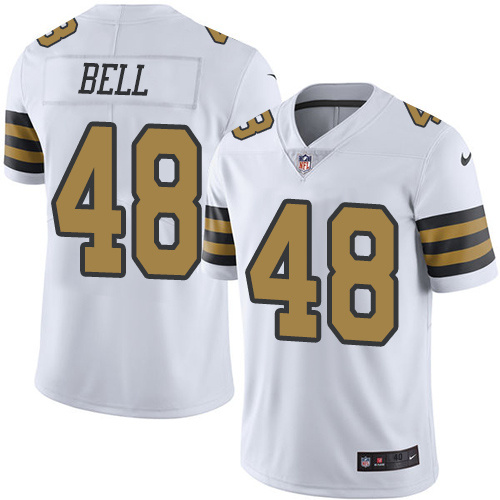 2016 Nike New Orleans Saints 48 Vonn Bell White Mens Stitched NFL Limited Rush Jersey