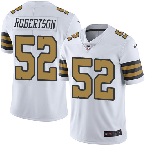 2016 Nike New Orleans Saints 52 Craig Robertson White Mens Stitched NFL Limited Rush Jersey
