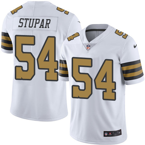 2016 Nike New Orleans Saints 54 Nate Stupar White Mens Stitched NFL Limited Rush Jersey