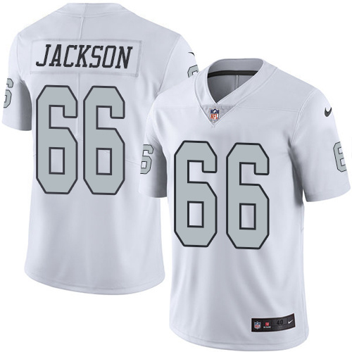 2016 Nike Oakland Raiders 66 Gabe Jackson White Mens Stitched NFL Limited Rush Jersey