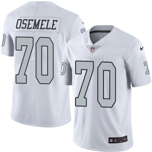2016 Nike Oakland Raiders 70 Kelechi Osemele White Mens Stitched NFL Limited Rush Jersey
