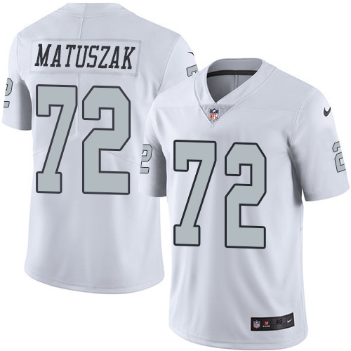 2016 Nike Oakland Raiders 72 John Matuszak White Mens Stitched NFL Limited Rush Jersey