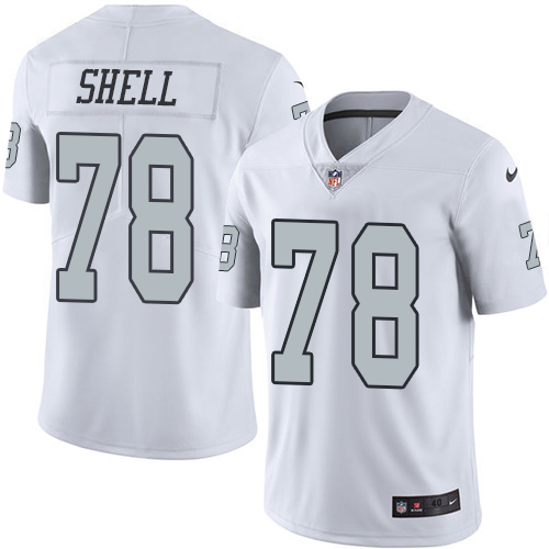 2016 Nike Oakland Raiders 78 Art Shell White Mens Stitched NFL Limited Rush Jersey