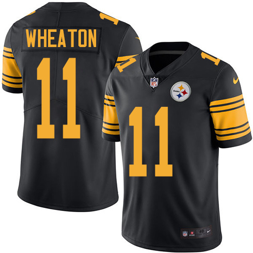 2016 Nike Pittsburgh Steelers 11 Markus Wheaton Black Mens Stitched NFL Limited Rush Jersey
