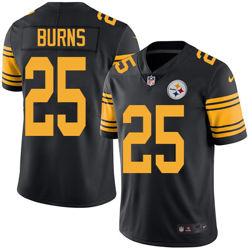 2016 Nike Pittsburgh Steelers 25 Artie Burns Black Mens Stitched NFL Limited Rush Jersey