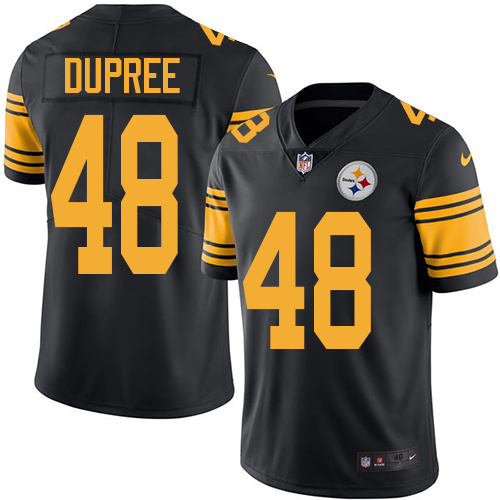 2016 Nike Pittsburgh Steelers 48 Bud Dupree Black Mens Stitched NFL Limited Rush Jersey