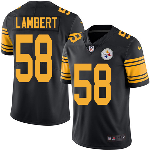 2016 Nike Pittsburgh Steelers 58 Jack Lambert Black Mens Stitched NFL Limited Rush Jersey