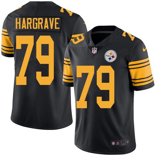 2016 Nike Pittsburgh Steelers 79 Javon Hargrave Black Mens Stitched NFL Limited Rush Jersey
