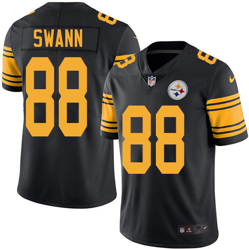 2016 Nike Pittsburgh Steelers 88 Lynn Swann Black Mens Stitched NFL Limited Rush Jersey