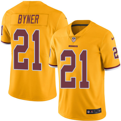2016 Nike Washington Redskins 21 Earnest Byner Gold Mens Stitched NFL Limited Rush Jersey