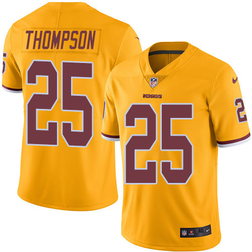 2016 Nike Washington Redskins 25 Chris Thompson Gold Mens Stitched NFL Limited Rush Jersey