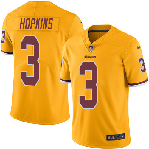 2016 Nike Washington Redskins 3 Dustin Hopkins Gold Mens Stitched NFL Limited Rush Jersey