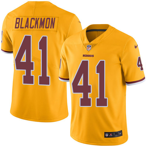 2016 Nike Washington Redskins 41 Will Blackmon Gold Mens Stitched NFL Limited Rush Jersey