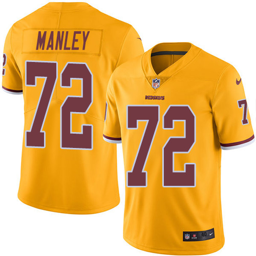2016 Nike Washington Redskins 72 Dexter Manley Gold Mens Stitched NFL Limited Rush Jersey