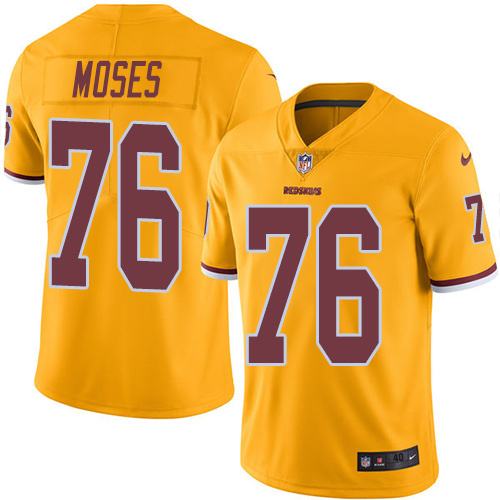 2016 Nike Washington Redskins 76 Morgan Moses Gold Mens Stitched NFL Limited Rush Jersey