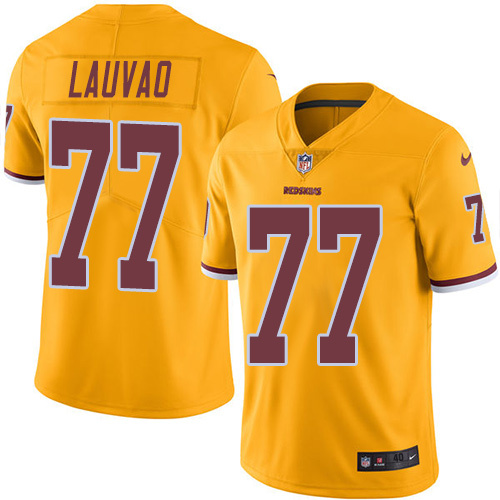 2016 Nike Washington Redskins 77 Shawn Lauvao Gold Mens Stitched NFL Limited Rush Jersey