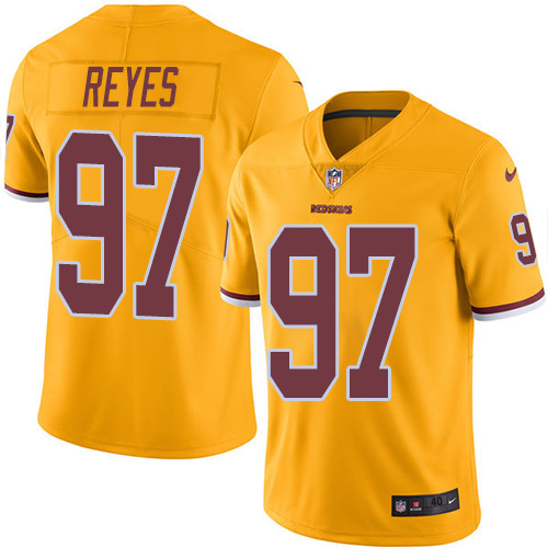 2016 Nike Washington Redskins 97 Kendall Reyes Gold Mens Stitched NFL Limited Rush Jersey