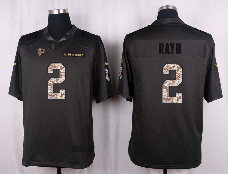 Atlanta Falcons 2 Rayn 2016 Nike Anthracite Salute to Service Limited Jersey