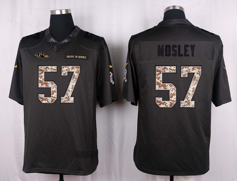 Baltimore Ravens 57 Mosley 2016 Nike Anthracite Salute to Service Limited Jersey