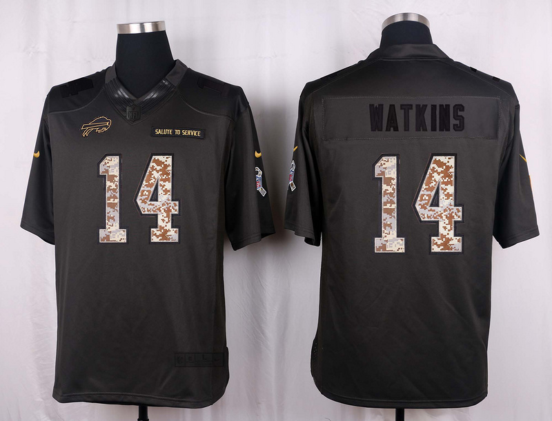 Buffalo Bills 14 Watkins 2016 Nike Anthracite Salute to Service Limited Jersey