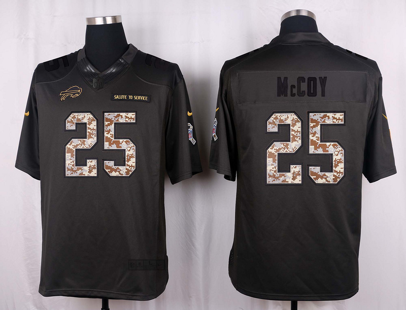 Buffalo Bills 25 Mccoy 2016 Nike Anthracite Salute to Service Limited Jersey