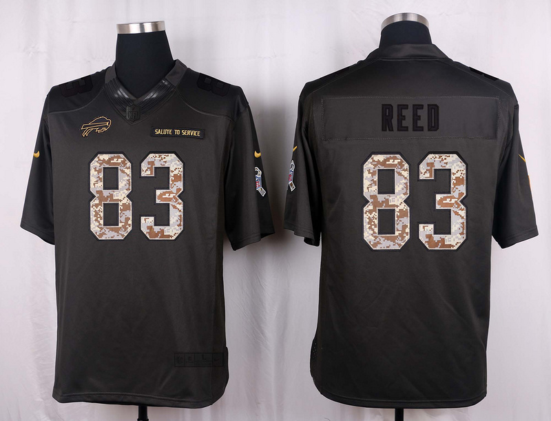 Buffalo Bills 83 Reed 2016 Nike Anthracite Salute to Service Limited Jersey