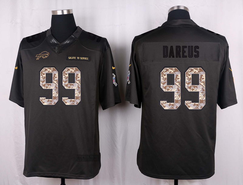 Buffalo Bills 99 Dareus 2016 Nike Anthracite Salute to Service Limited Jersey