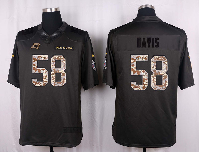 Carolina Panthers 58 Davis 2016 Nike Anthracite Salute to Service Limited Jersey