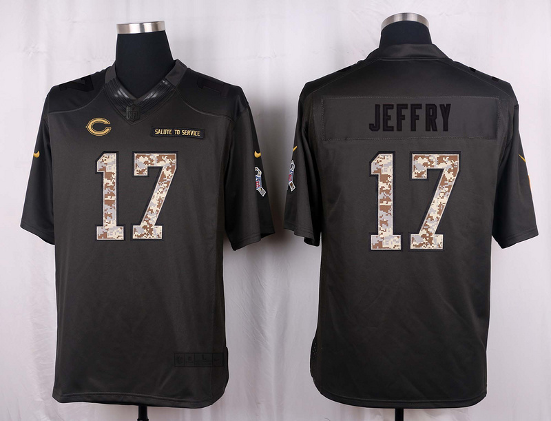 Chicago Bears 17 Jeffry 2016 Nike Anthracite Salute to Service Limited Jersey