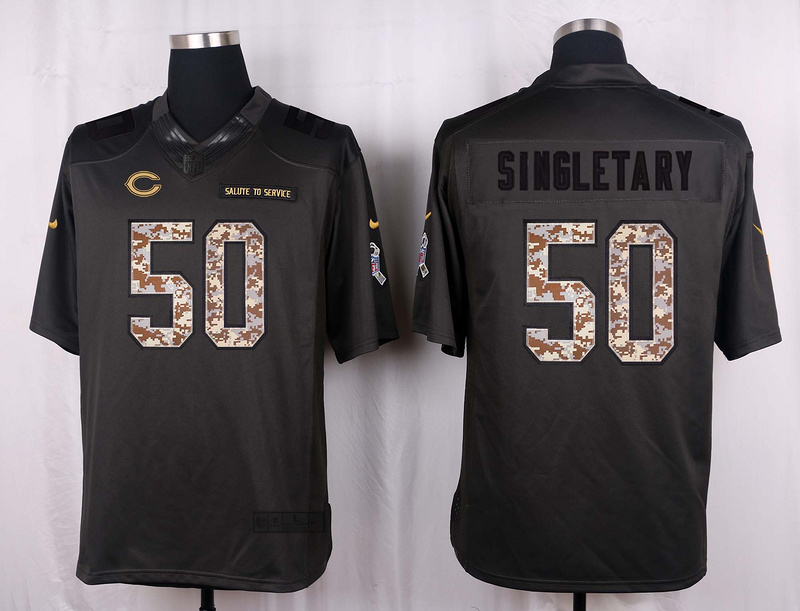 Chicago Bears 50 Singletary 2016 Nike Anthracite Salute to Service Limited Jersey