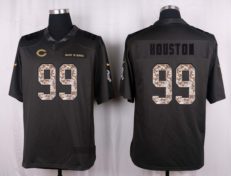 Chicago Bears 99 Houston 2016 Nike Anthracite Salute to Service Limited Jersey