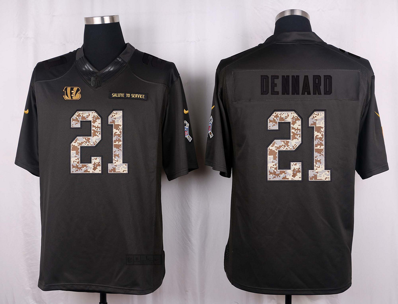 Cincinnati Bengals 21 Dennard 2016 Nike Anthracite Salute to Service Limited Jersey