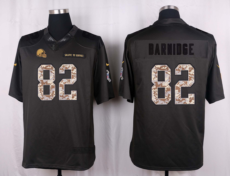 Cleveland Browns 82 Barnidge 2016 Nike Anthracite Salute to Service Limited Jersey