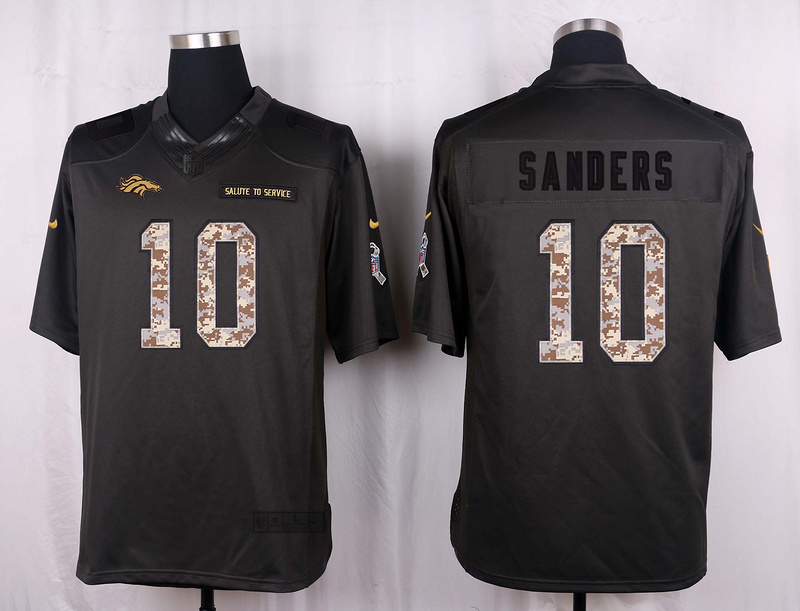 Denver Broncos 10 Sanders 2016 Nike Anthracite Salute to Service Limited Jersey