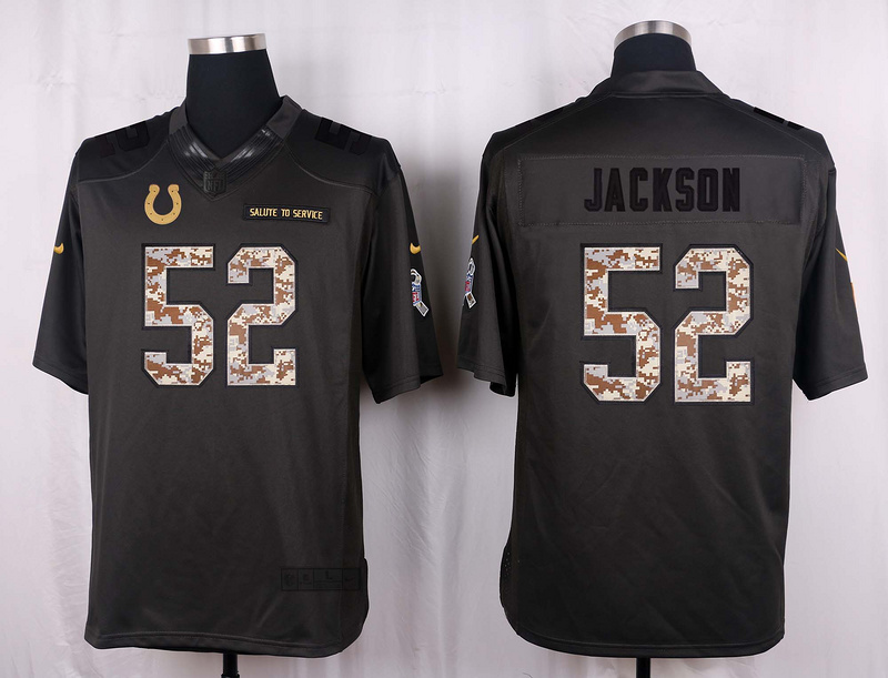 Indianapolis Colts 52 Jackson 2016 Nike Anthracite Salute to Service Limited Jersey
