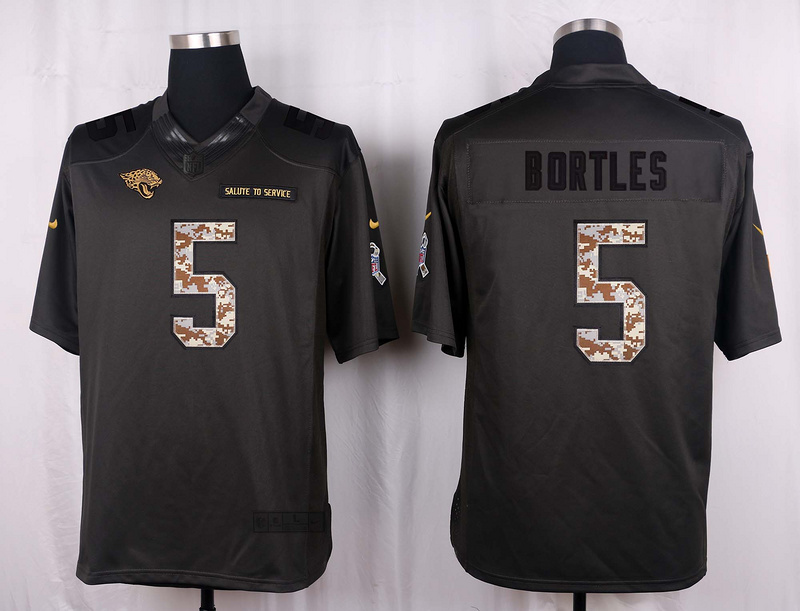 Jacksonville Jaguars 5 Bortles 2016 Nike Anthracite Salute to Service Limited Jersey