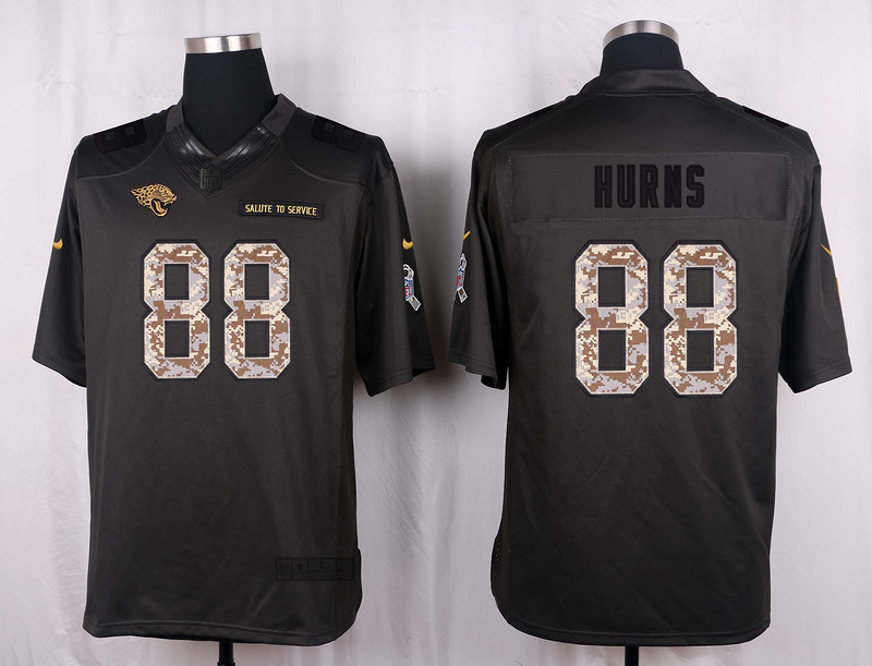 Jacksonville Jaguars 88 Hurns 2016 Nike Anthracite Salute to Service Limited Jersey