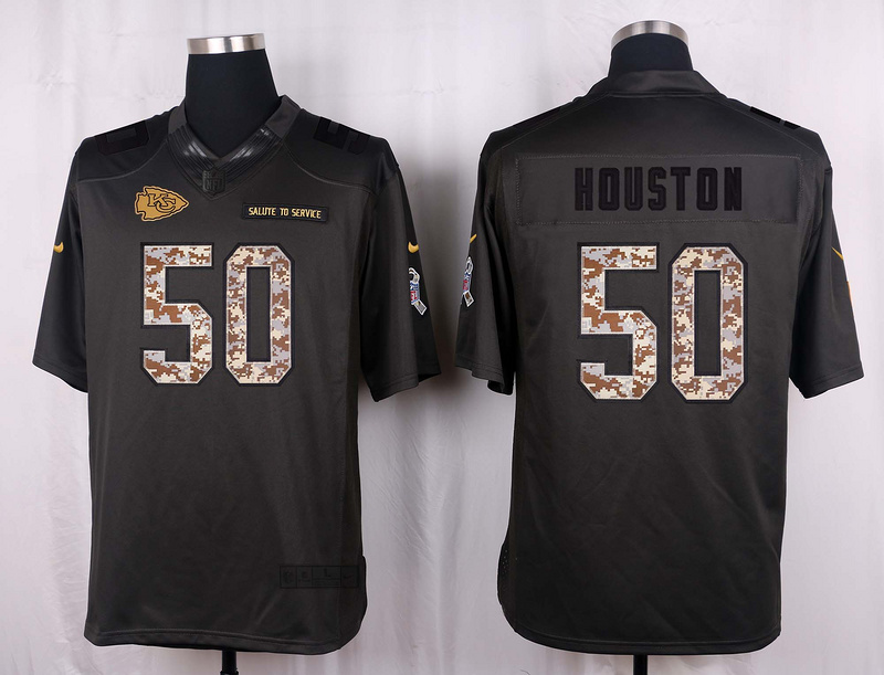 Kansas City Chiefs 50 Houston 2016 Nike Anthracite Salute to Service Limited Jersey