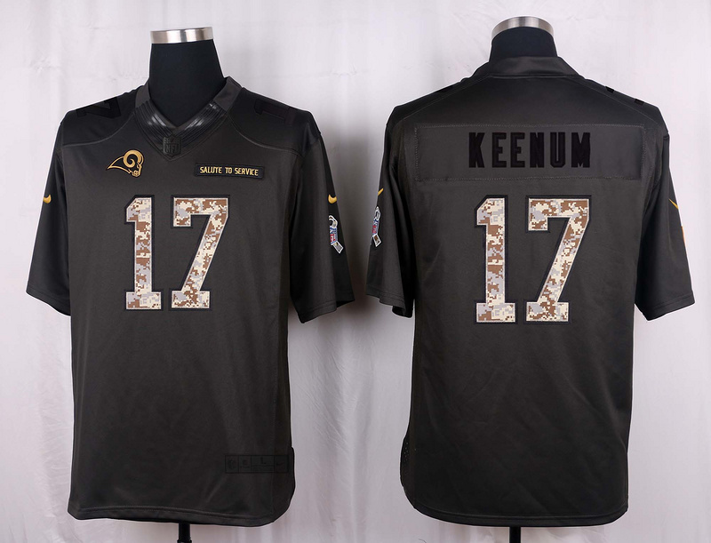 Los Angeles Rams 17 Keenum 2016 Nike Anthracite Salute to Service Limited Jersey