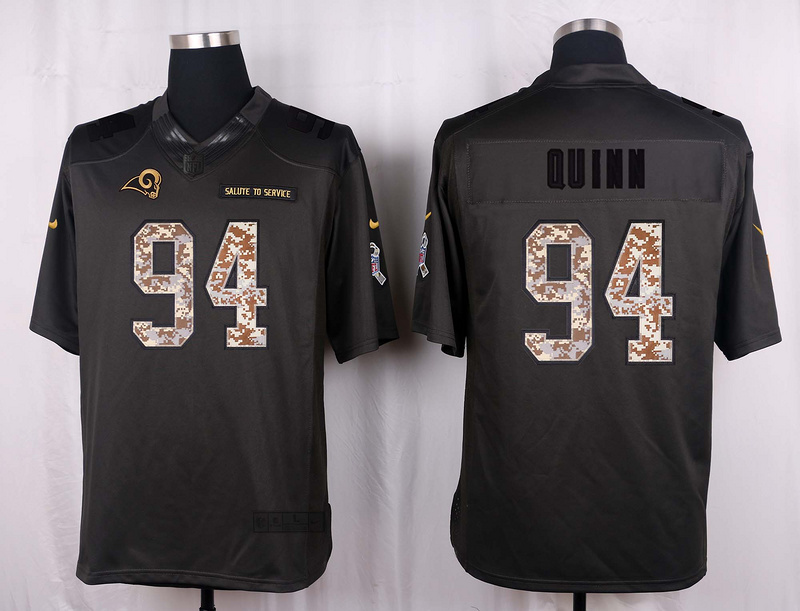 Los Angeles Rams 94 Quinn 2016 Nike Anthracite Salute to Service Limited Jersey