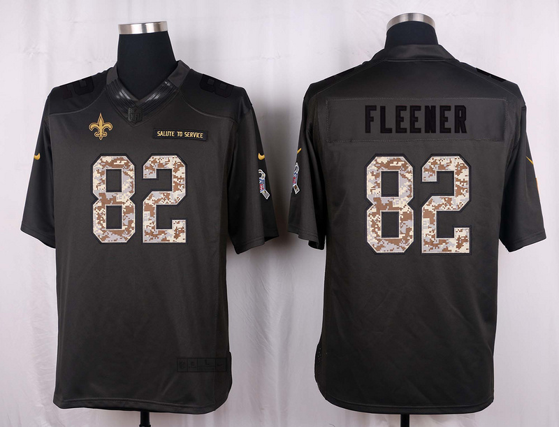 New Orleans Saints 82 Fleener 2016 Nike Anthracite Salute to Service Limited Jersey