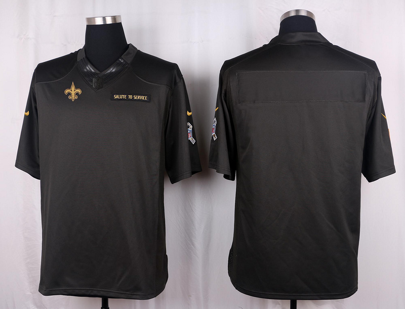 New Orleans Saints Blank 2016 Nike Anthracite Salute to Service Limited Jersey