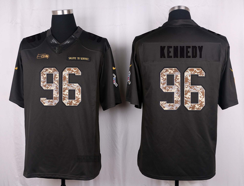 Seattle Seahawks 96 Kennedy 2016 Nike Anthracite Salute to Service Limited Jersey